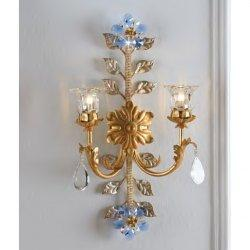 Бра Epoca Lampadari  1403/A2C dec. 722 blue crystal