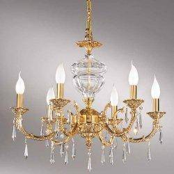 Описание и фото Люстра Nervilamp 581/6 French Gold Clear Cristall
