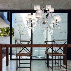 Люстра Euroluce  Alicante White L8+4 shade