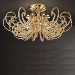 Потолочная люстра Masiero Luxury Cristalry Gold/PL24 Swarowski Elements